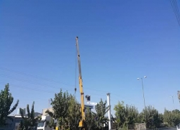 نصب  تابلوی جدید برای ورودی نجف آباد